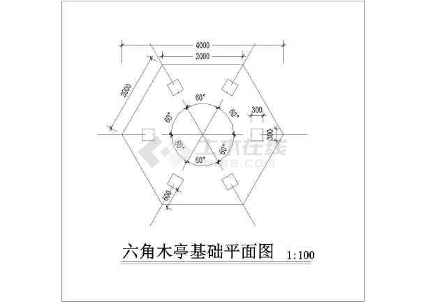 六角亭施工详图-图2