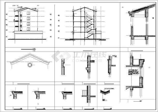 某多层住宅楼建筑cad施工图-图1
