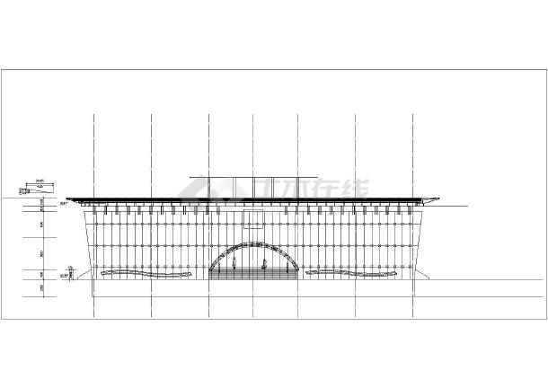 城市展览馆建筑cad施工图-图1