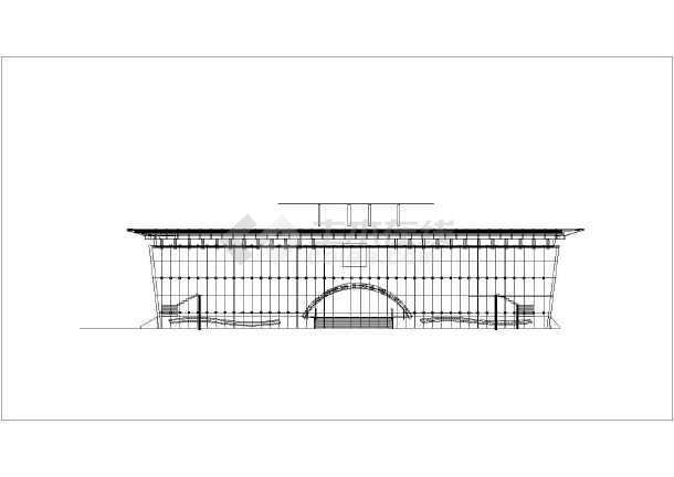 城市展览馆建筑cad施工图-图2