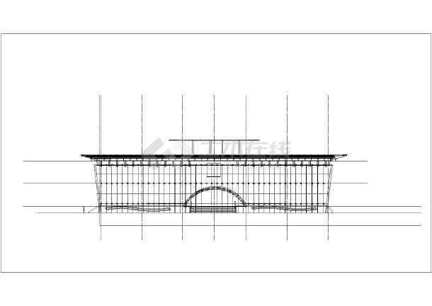 城市展览馆建筑cad施工图-图3