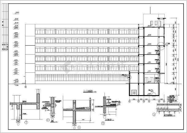 框剪结构商务楼设计建筑结构cad图