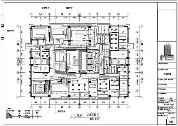 某地办公室装修电路设计规划施工图