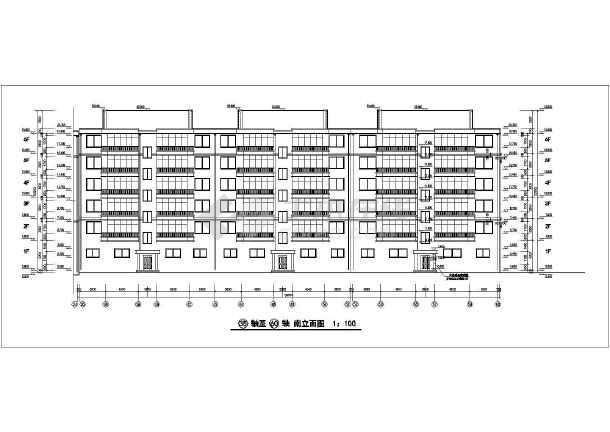 某六层组合单元式小区住宅楼建筑设计图