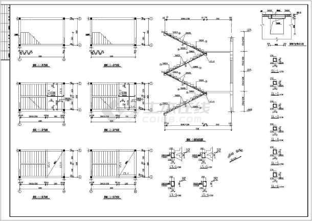 某地区二层幼儿园建筑cad设计图(含楼梯详图)