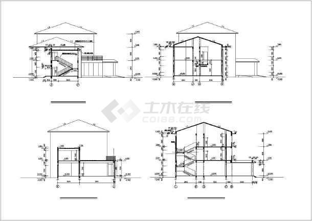 某三层欧式企业办公楼建筑施工图纸