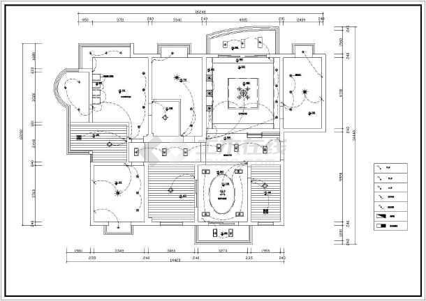 某图纸室内家庭装修cad施工设计别墅层家装图纸阿里巴巴两图片