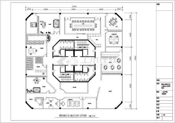 某影视公司办公室设计装修cad平面布置图