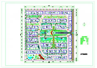 [大连]住宅小区绿化及规划设计图纸图大全石灰窑方案技术图片