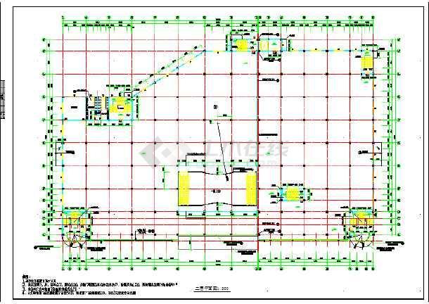 某大型超市版式建筑cad设计施工图中国分全套v版式图片