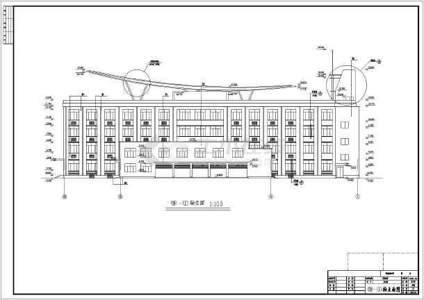 某乡政府办公楼cad施工图-图1