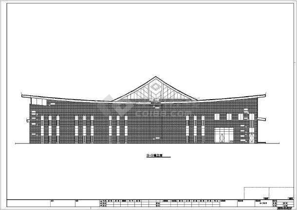 某县级博物馆建筑设计cad施工图-图2
