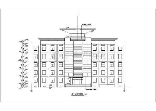 某综合教学楼cad施工图-图1