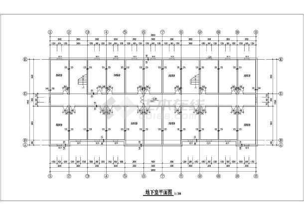 某综合教学楼cad施工图-图3