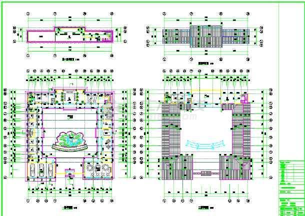 四合院川西民居式纯木结构别院建筑施工图
