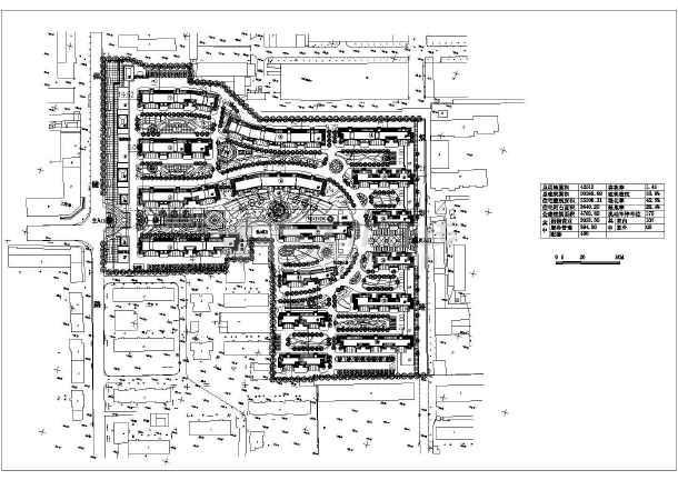 某地沿街综合住宅小区建筑设计规划图-图1