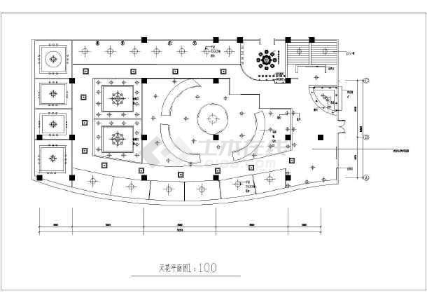 某餐厅cad施工图-图1
