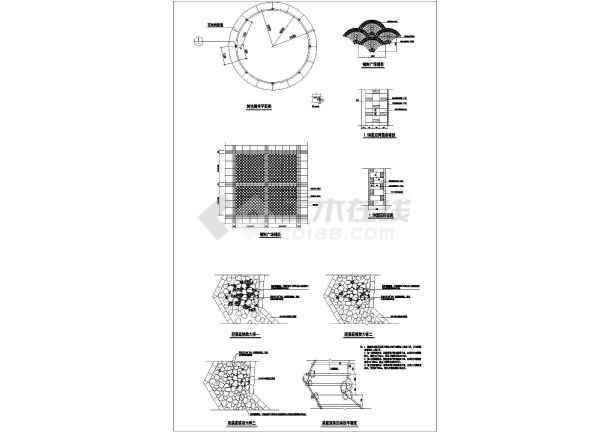 人行道路面结构与铺装图 铺装CAD施工图