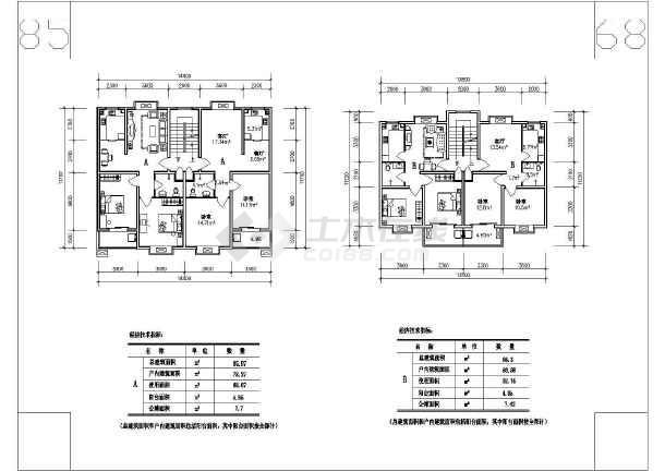 某多层住宅cad施工图-图1