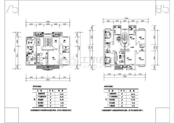 某多层住宅cad施工图-图2