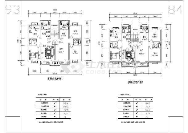 某多层住宅cad施工图-图3