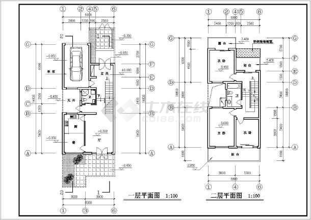 某市建筑专业竞赛cad设计方案图纸