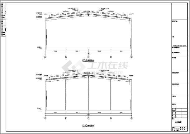 某地区南宁23米跨度工程钢结构cad图