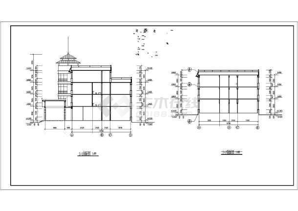 地区三层养老院全套施工装修cad设计图纸