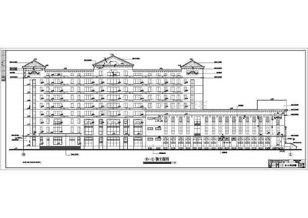 超级详细的欧式办公楼cad施工图-图1