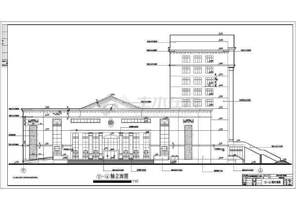 超级详细的欧式办公楼cad施工图-图2