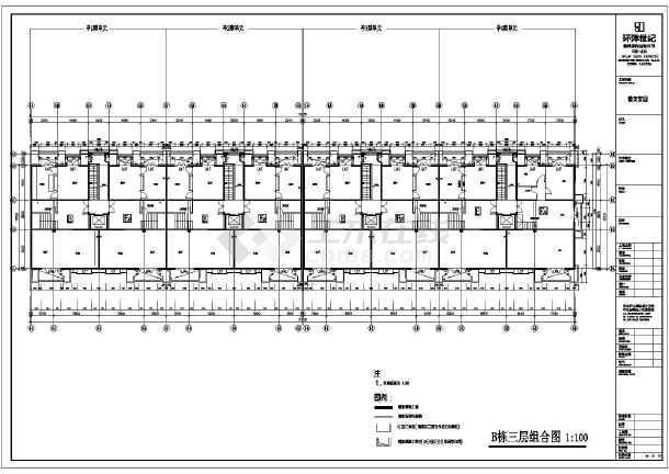 某小区住宅cad施工图纸-图3