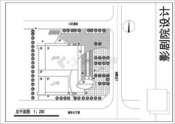 中型影剧院cad施工图-图3