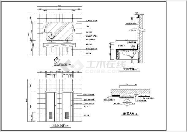 某茶楼cad装修平面设计施工图纸图片