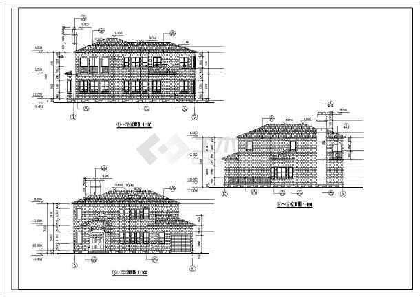 某经济型图纸别墅全套的二层施工图公寓别墅连排是多少与宾馆价格比图片
