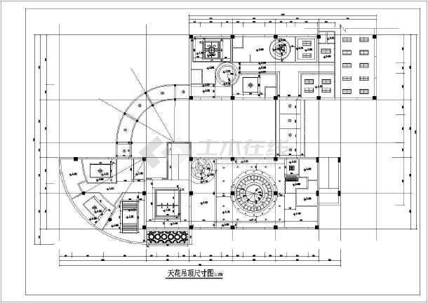 未园餐厅cad施工图-图1