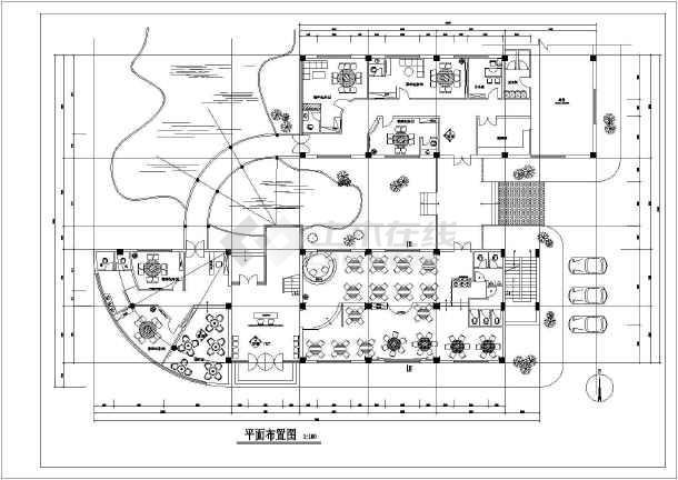 未园餐厅cad施工图-图3