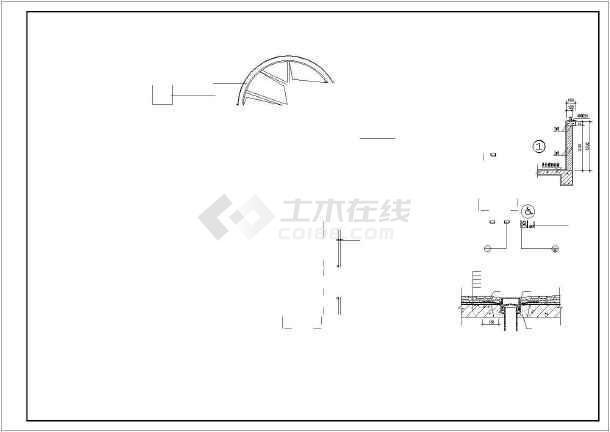 某卫生院cad施工图-图2