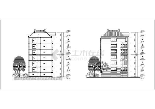 六层671平方米住宅楼房建筑设计图
