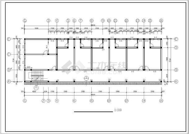 某私人10*30米出租房建筑设计师施工图