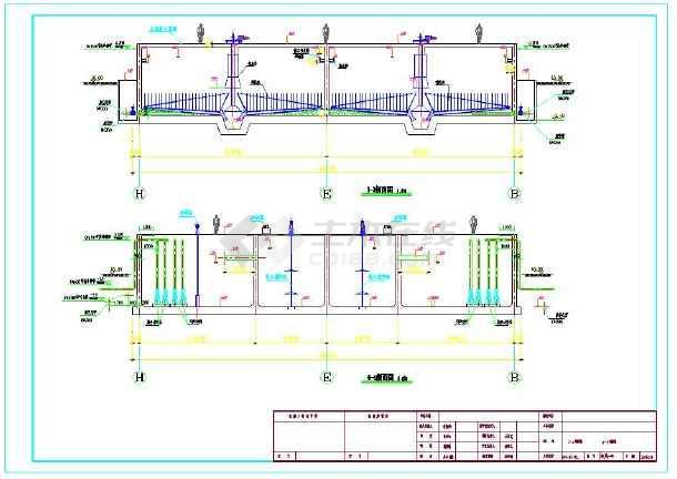 某1万吨污水处理厂工艺高程及各工艺单元图纸-图2