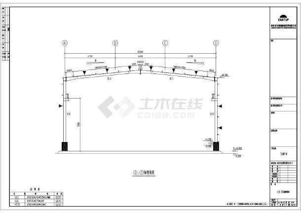 某二厂b厂房工程钢结构cad图纸