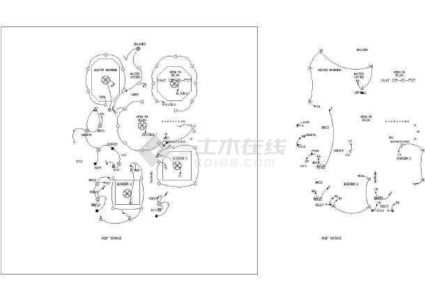 别墅英文图纸施工版本与设计别墅CAD全套白寨买新密方案的图片