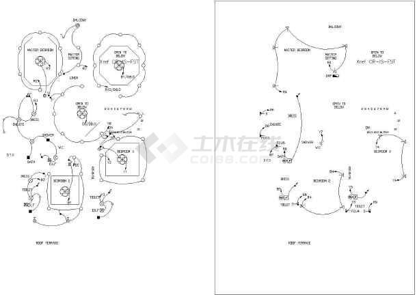 版本英文图纸设计别墅与施工全套CAD别墅方案世博房昆明图片