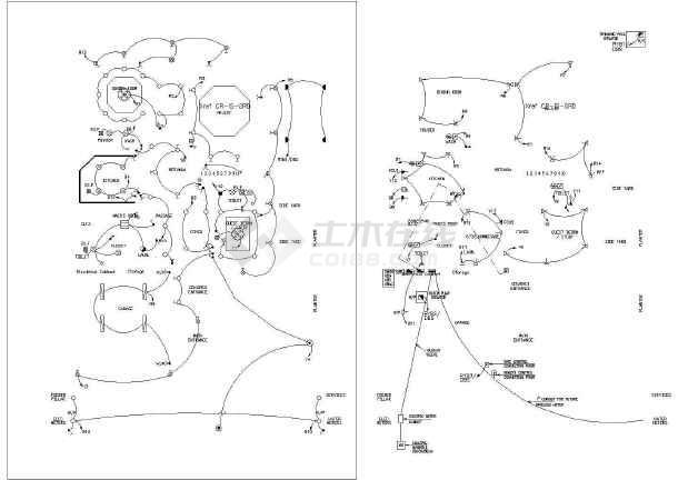 双拼英文别墅设计别墅与施工全套CAD方案图纸版本溧阳价格图片