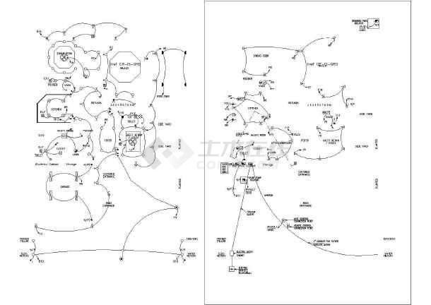 图纸英文方案设计别墅与施工外观CAD别墅全套版本古典图片