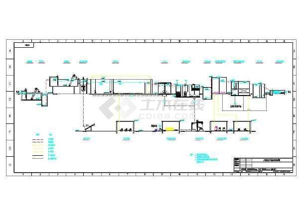 一般市政污水处理工艺流程高程图-图1