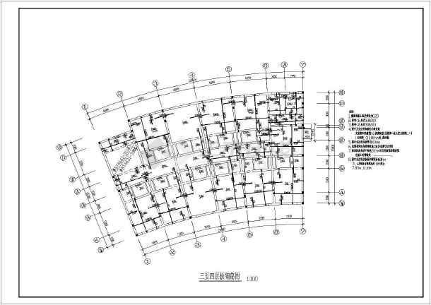 某地区交警队办公楼钢结构设计cad图