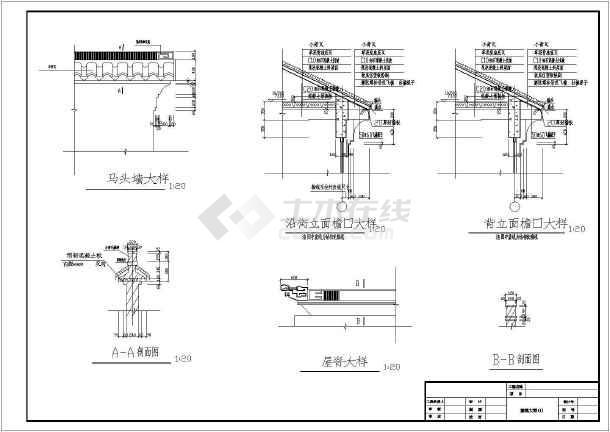 某地仿古代古建筑设计施工cad详图