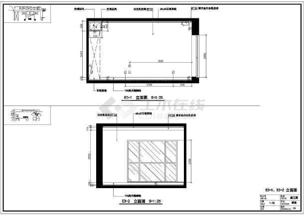 某地区高档图纸楼盘精装修cad住宅图纸创维aht299aht29dddd9彩电平面图片