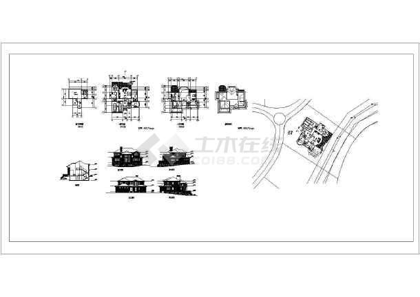 2层半400平别墅标题v别墅cad尺寸带效果图图纸图纸号3栏乡村图片